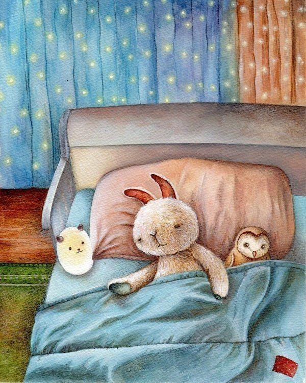 Картинки спокойной ночи зверушки в пледике
