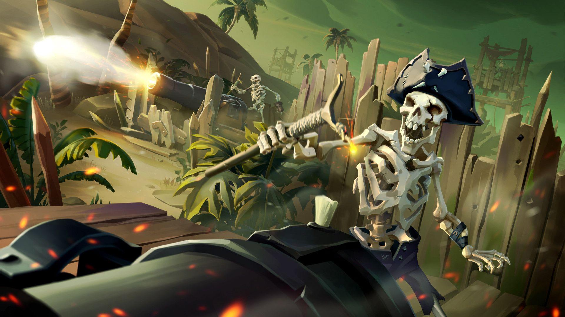 Artstation Skeleton Fort Sea Of Thieves Artur Zima Xbox