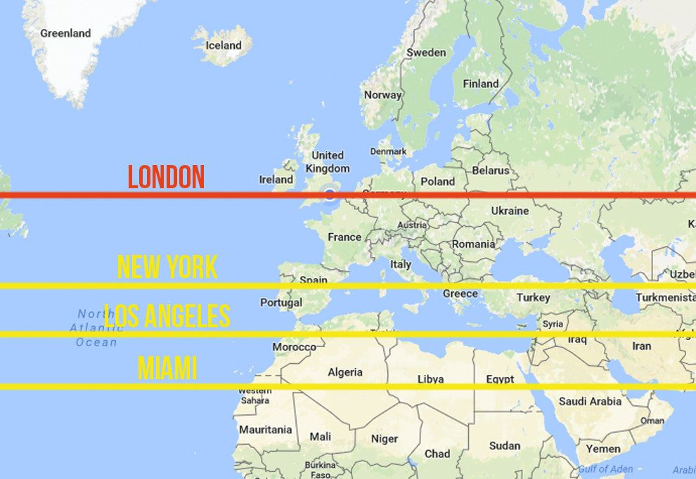Looking At Some Major US Cities Latitudes Compared To Ours Its - Greenland latitude