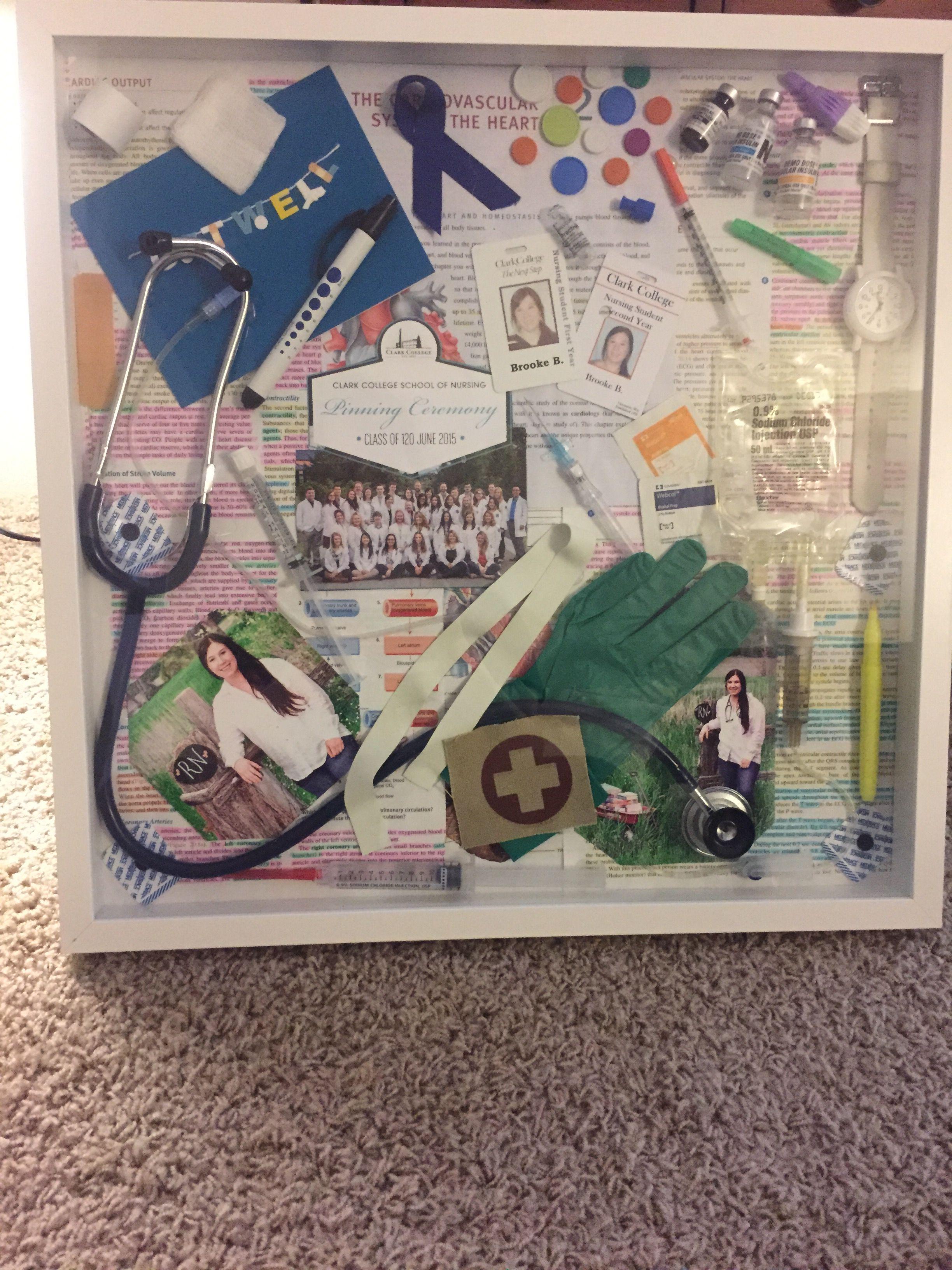 Nursing Shadow Box I Made After My Rn Degree Nursing 3