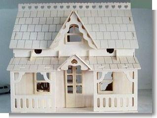 Encontrar Más Puzzles Información acerca de Educativos gran porche Casa de madera de construcción en 3D a escala miniatura Modelos, alta calidad modelo de madera, China modelo 3d de madera Proveedores, barato modelos de madera sofá conjunto de MyChildhood en Aliexpress.com