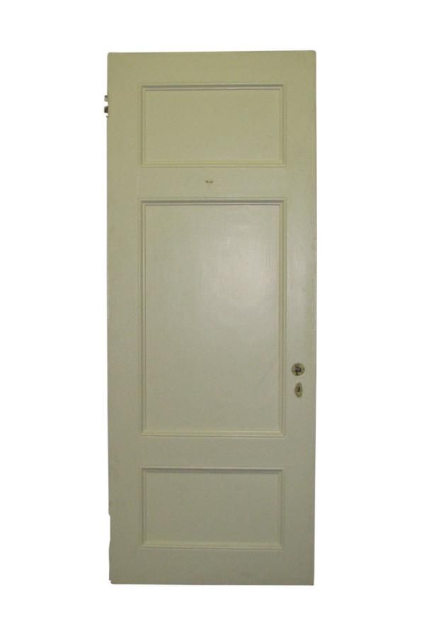 Three Horizontal Panel White Painted Door Dream House Pinterest