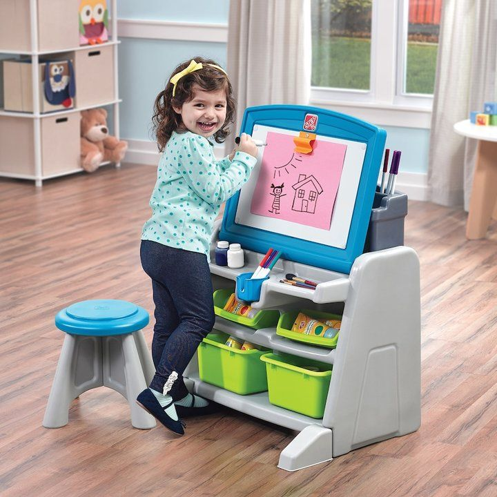 Awesome Step2 Flip U0026 Doodle Easel Desk U0026 Stool. This Would Be Great For A Child Who  Loves To Create. | Gift Ideas | Pinterest | Desk Stool Design Inspirations