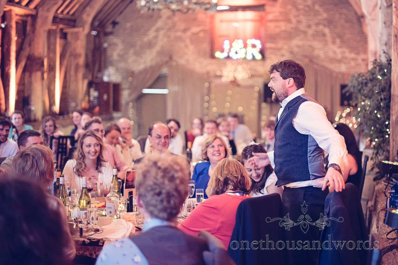 Grooms speech at Barn Wedding. Photography by one thousand words ...