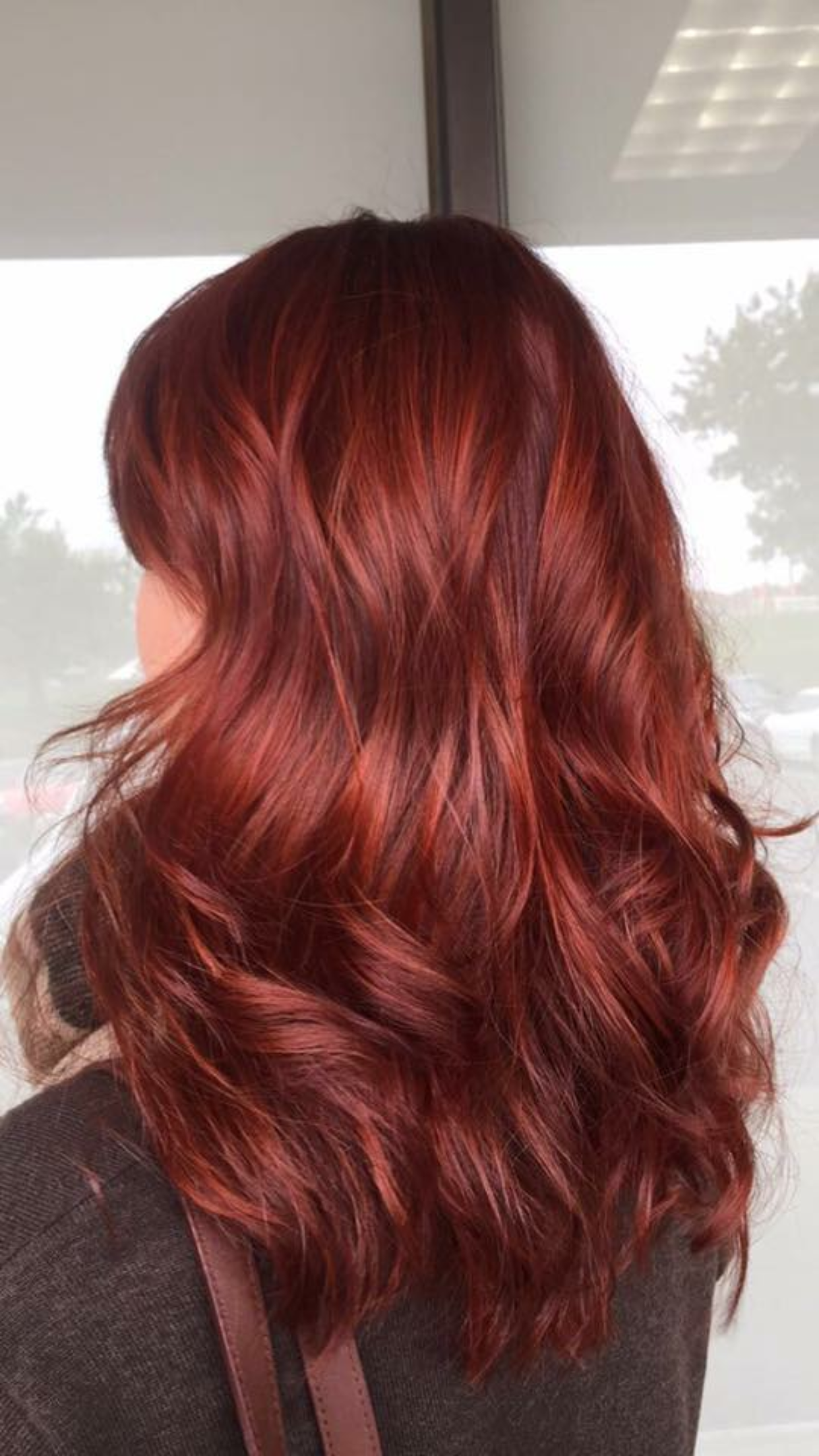 This Cool Toned Red Hair Is Perfect For Winter And The Holidays Magenta Hair Auburn Red Hair Red Hair Color
