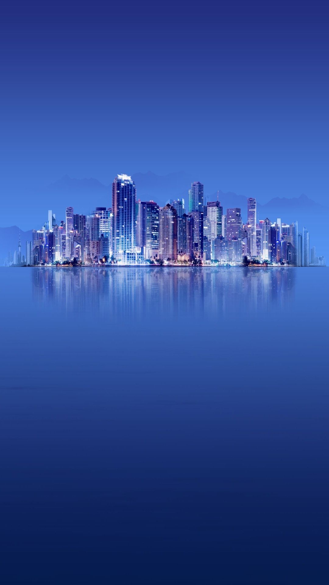 Magical blue water city nature background Samsung galaxy