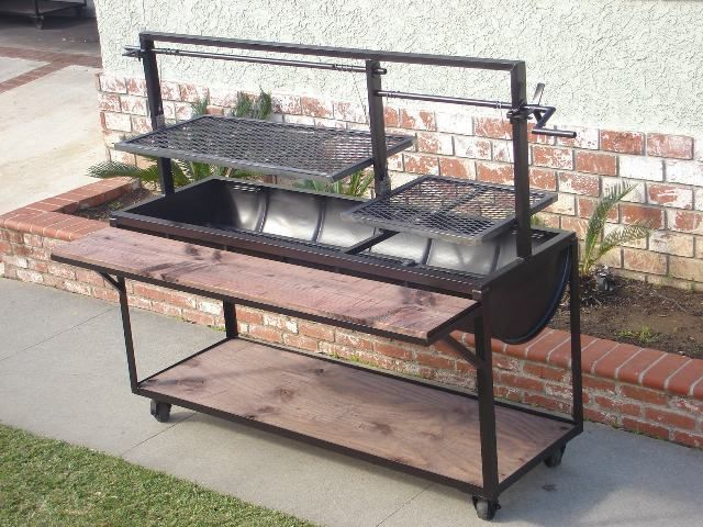 This would be a cool pit to build once I get a shop  Diy  Santa maria grill Grill design