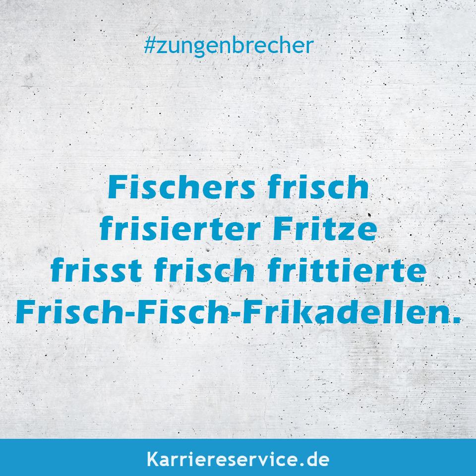Witziger Zungenbrecher Fischers frisch frisierter Fritze