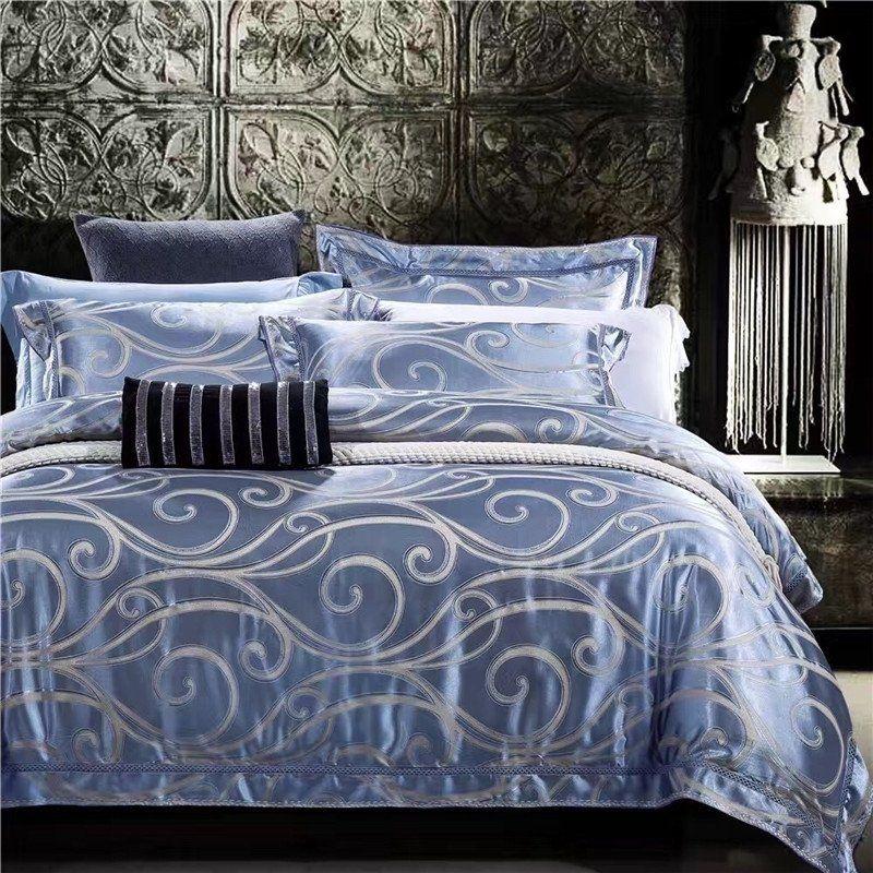 silver bedding set