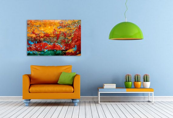 Colorful oversize abstract photography print on canvas by hayagold