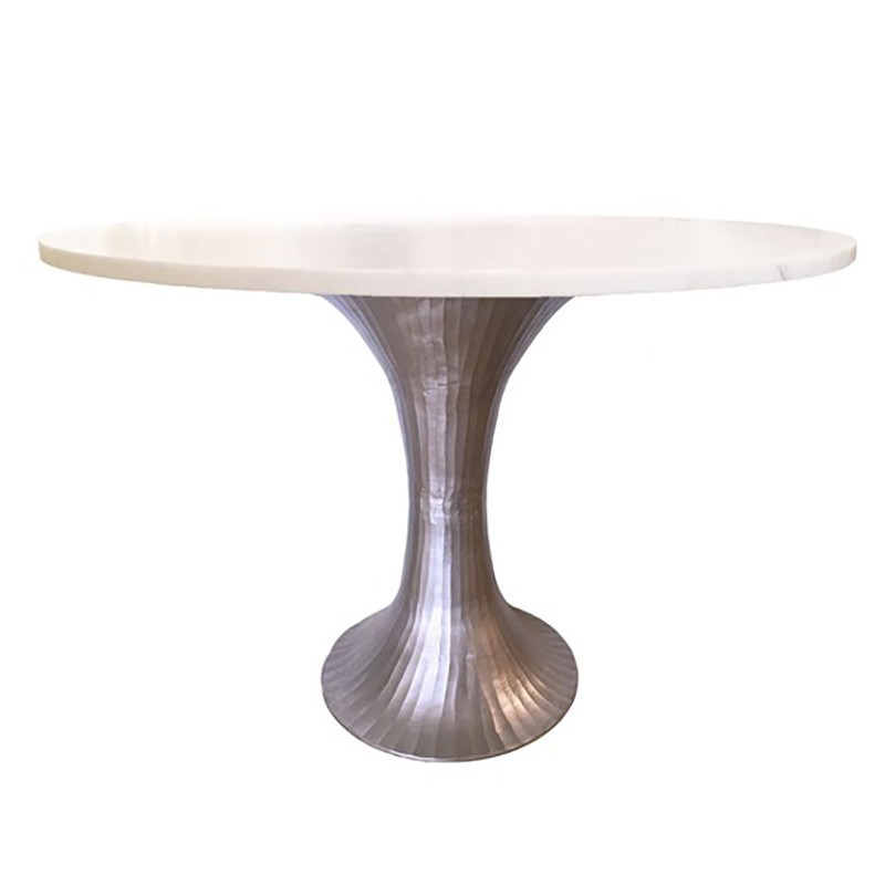 Selamat Alice Dining Table Pewter Dining Table Bistro Table
