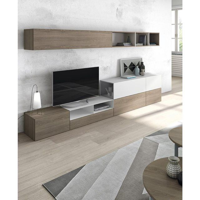 Meuble tv mural amy atylia besta living room decor tv unit design et tv furniture - Hauteur tv murale salon ...