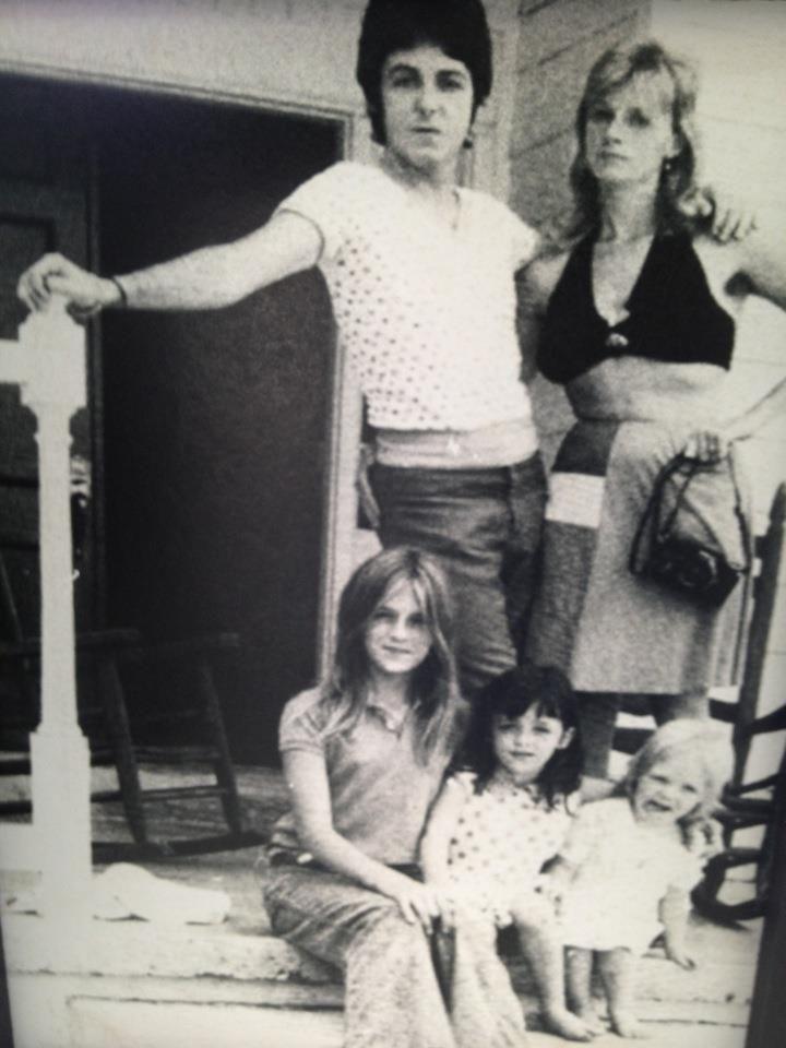 Paul McCartney Linda Eastman Heather Mary And Stella
