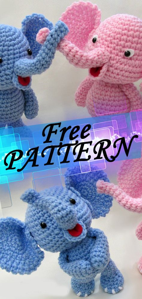 Little Bigfoot Elephant | Crochet Free Pattern Free crochet pattern crochetideasfree.com #crochet,#free,#patterns,#freepattern,#diy,#crafts,#knitting,#freepatterncrochet,#freepattern,#freecrochet,#freecrafts,#patterncrochet,#diycrochet,#craftscrochet,#patternknitting #crochetelephantpattern