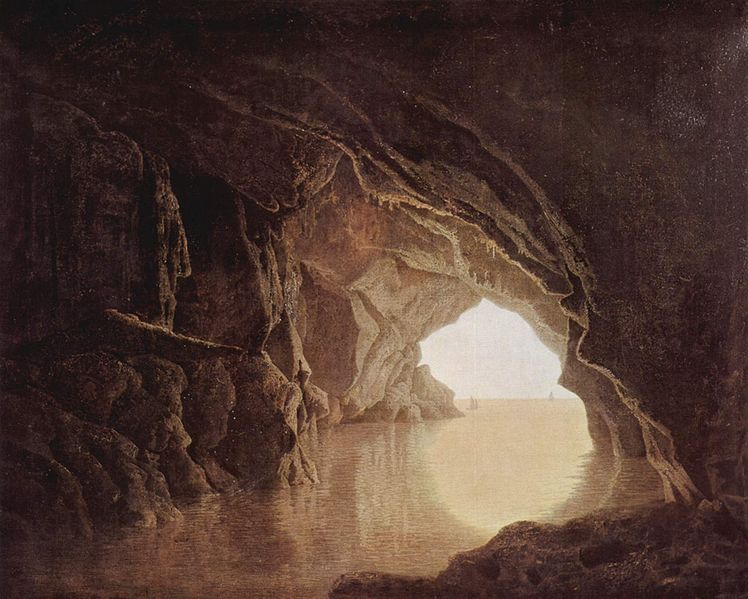 Joseph Wright of Derby Cave at evening