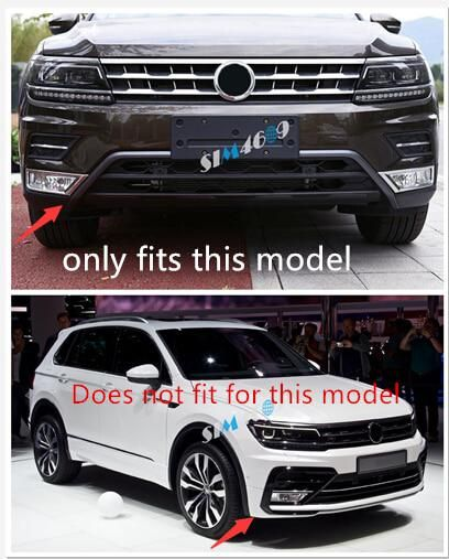ABS Front Bumper Bottom  Lid Cover Trims  for Volkswagen VW Tiguan 2017-2018