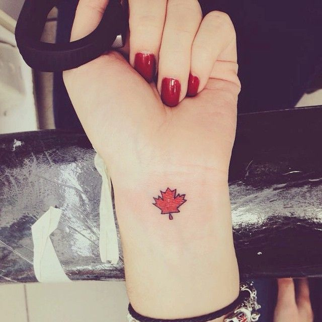Small Canada Tattoo: Pin By Sarah Branscome On Tattoos
