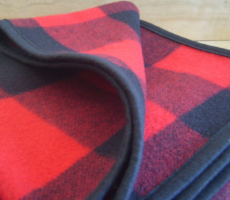 Trendy butler red flannel  Pendleton Fabric Blanket Buffalo Plaid Rustic Cabin Decor x