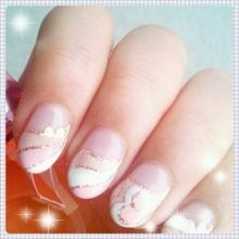Pink,beige and white color PUCCI nail