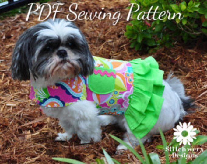 Dog Harness Sewing Pattern Dog Clothes Pattern Dog Harness Pdf