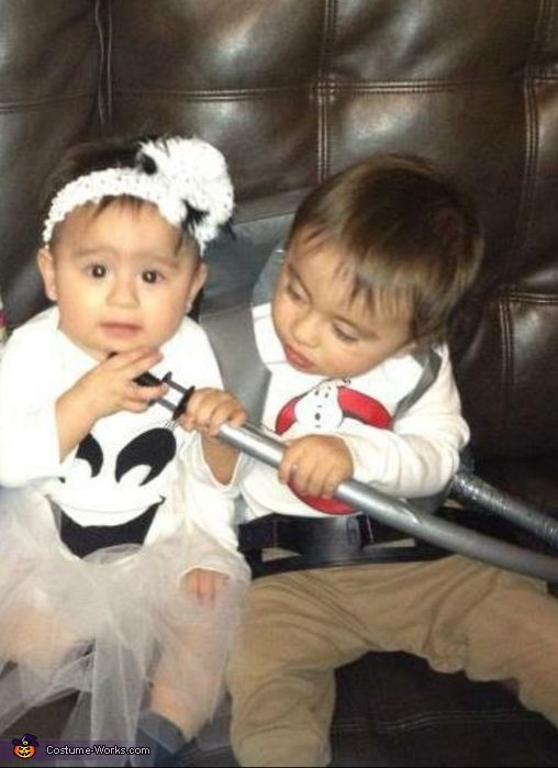 Deborah Thomas and Marissa are 9 month old twins. The ghost costume is made  sc 1 st  Pinterest & Ghost and Ghostbuster - Halloween Costume Contest at Costume-Works ...