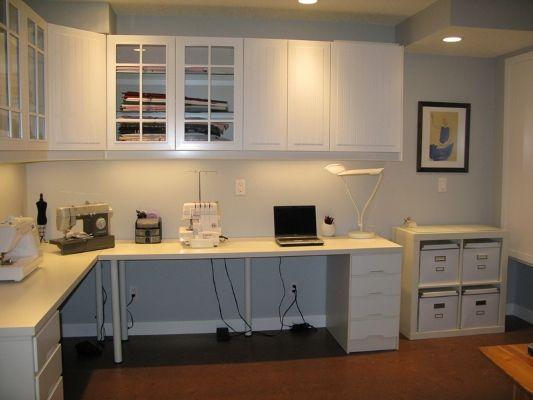 L Shaped Desks Sewing Room Design Desk Plans Craft Room Office