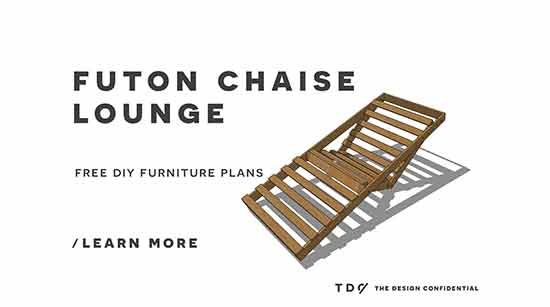 Free DIY Furniture Plans // How to Build an Indoor Outdoor Single Futon Chaise Lounge  sc 1 st  Pinterest : futon chaise lounge - Sectionals, Sofas & Couches
