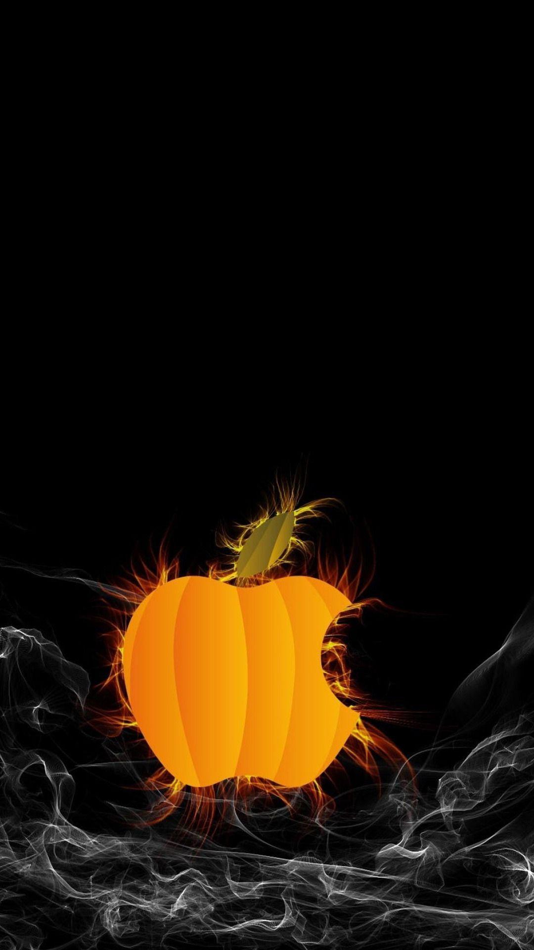 ハロウィンapple Halloween Wallpaper Apple Logo Wallpaper Apple