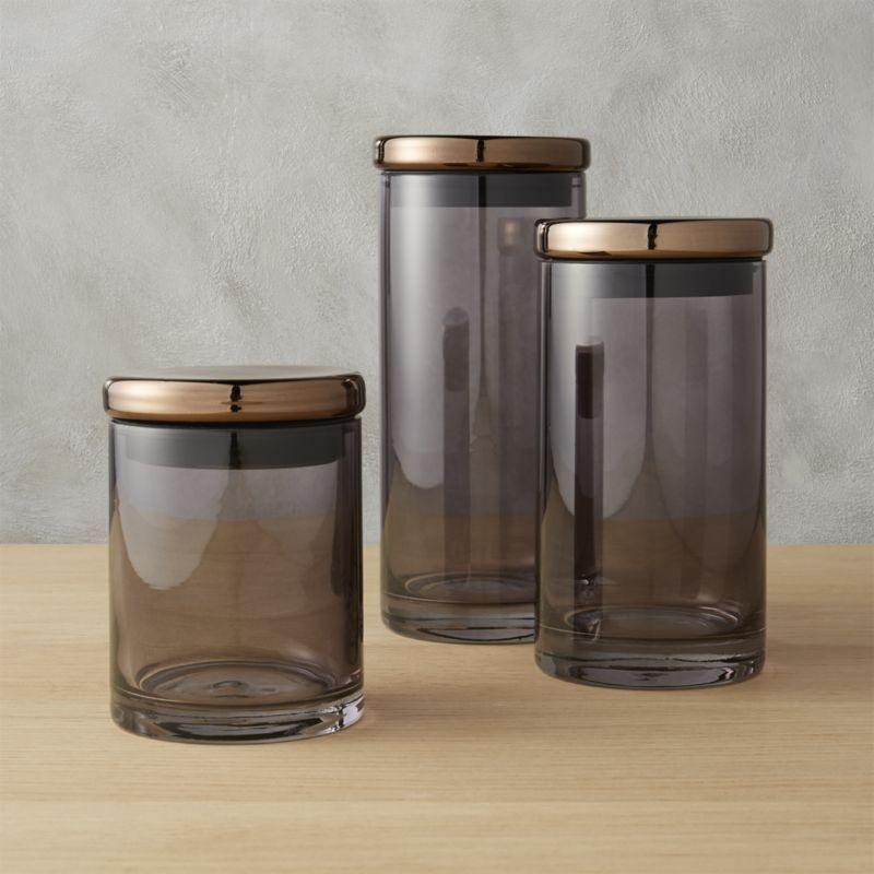 Shop Coltrane Smoke Canisters Handmade Of Smooth Smokey Glass