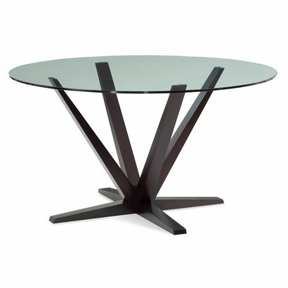 Aura Round Glass Top Dining Table Click To Enlarge 60 1364