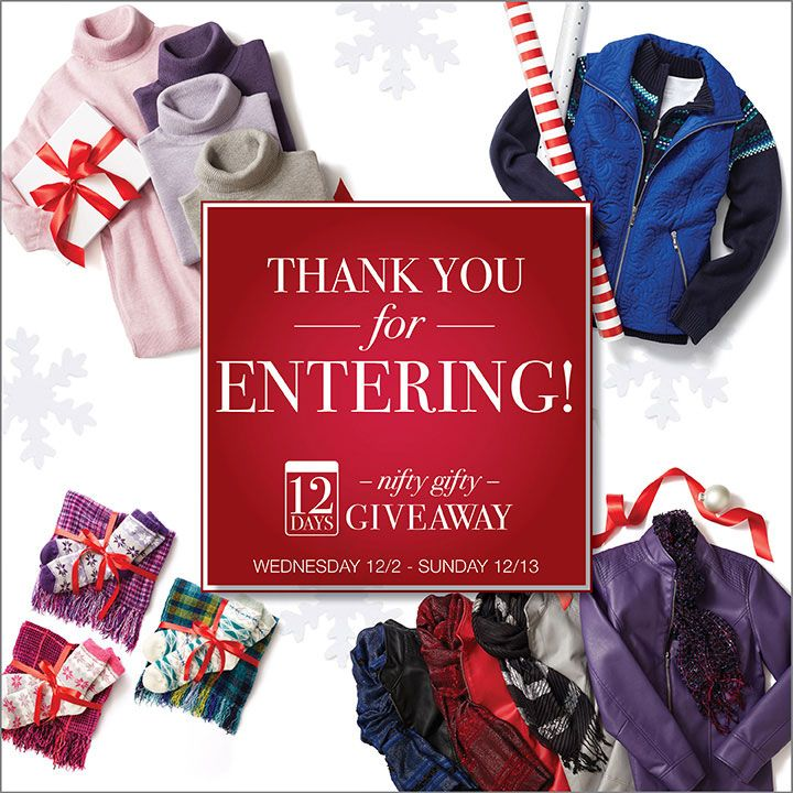 12 Day Giveaway  http://woobox.com/nmv884/ggxh9p  Ends 12-13