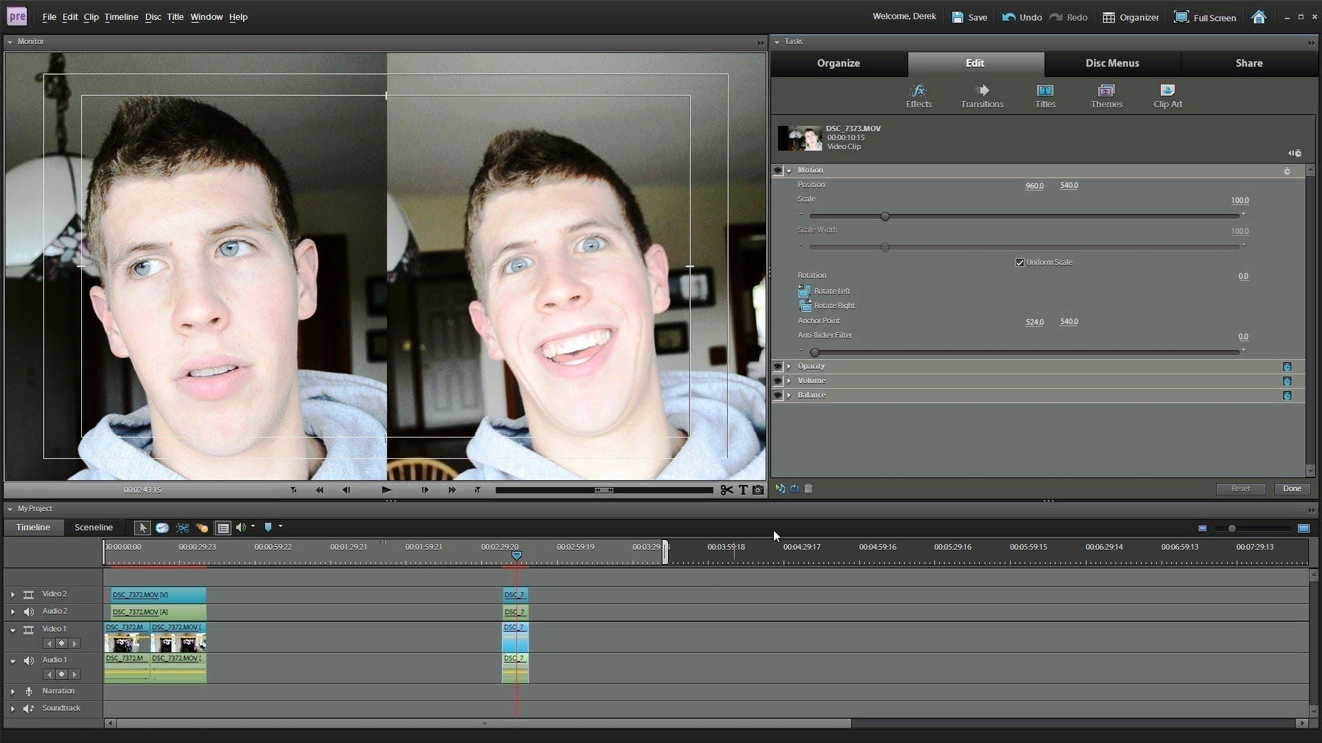 How to Split Screen in Adobe Premiere Elements 9 10 or