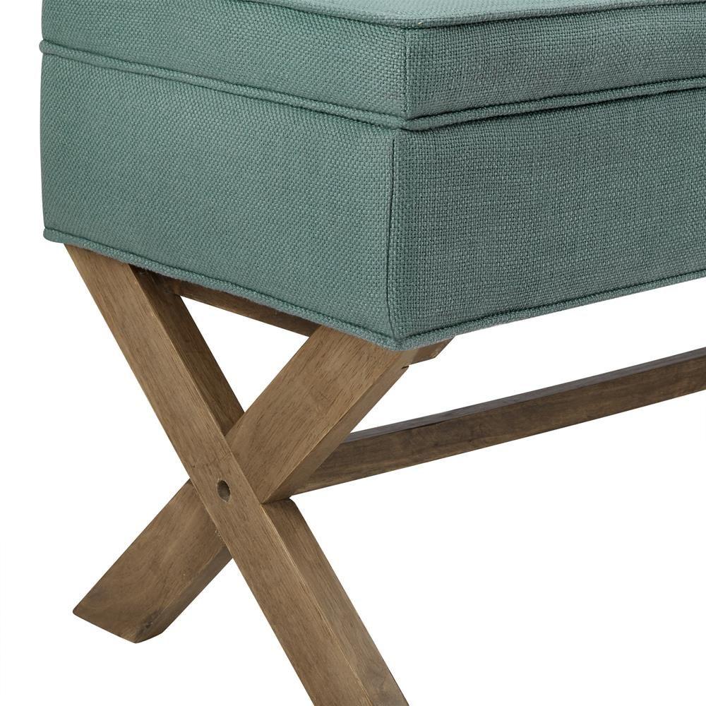 Banc De Rangement En Tissu Et En Bois Wood Storage Bench Wood  # Banc En Bois Et Tissu