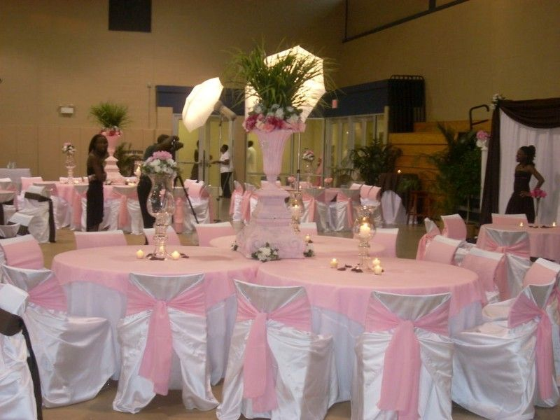 Pink And White Wedding Decorations On Decorations With ...