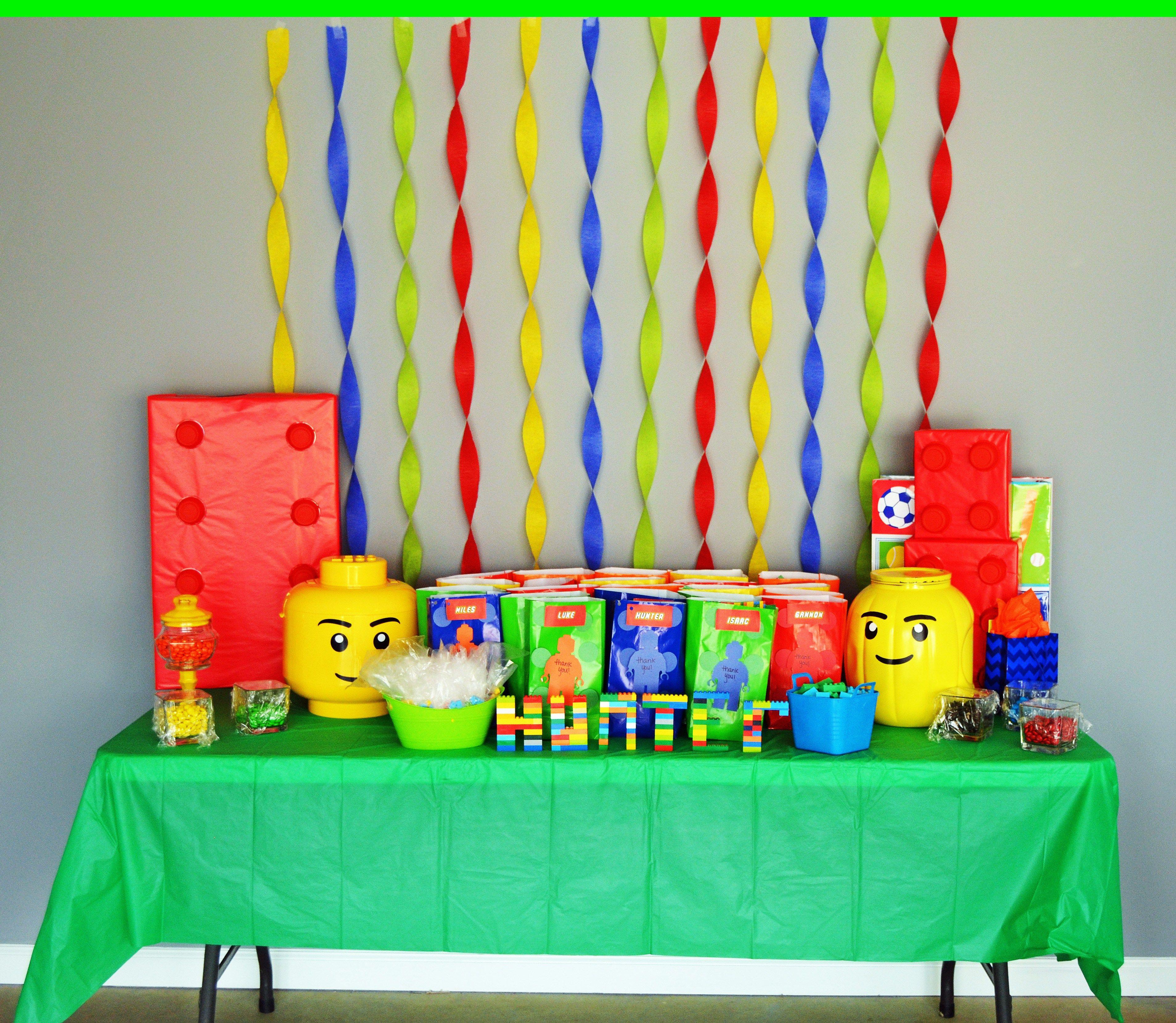 Lego Bricks Birthday Party Fiesta De Cumpleanos Infantil Fiesta De Cumpleanos Lego Decoracion Fiesta De Nina
