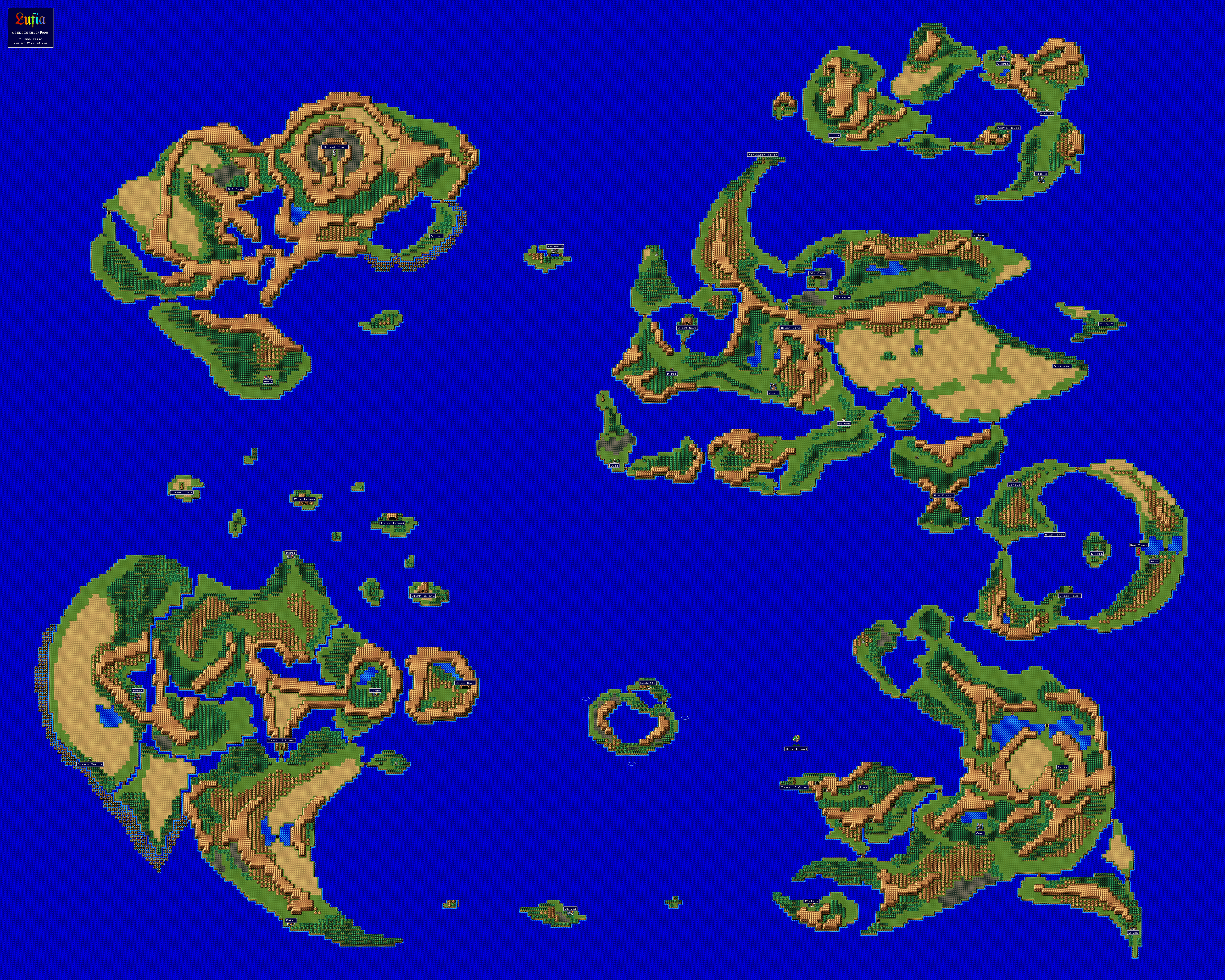 Lufia The Fortress Of Doom World 5120 4096 Game Maps