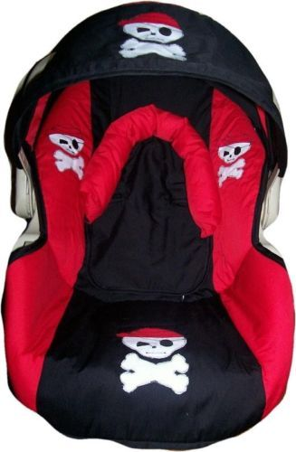 Red and Black Skull Infant Car Seat Cover | eBay | Madebymommie ...