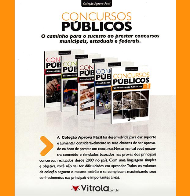 """#Concurso #ConcursoPúblico #Coleção #AprovaFácil #Vitrola Prepare-se agora para os CONCURSOS PÚBLICOS!  Chegue na frente com as revisões de Matemática, Conhecimentos Gerais, Atualidades, Redação & Textos oficiais e Informática!  Confira a """"Coleção Aprova Fácil"""": http://goo.gl/GJmeiR"""