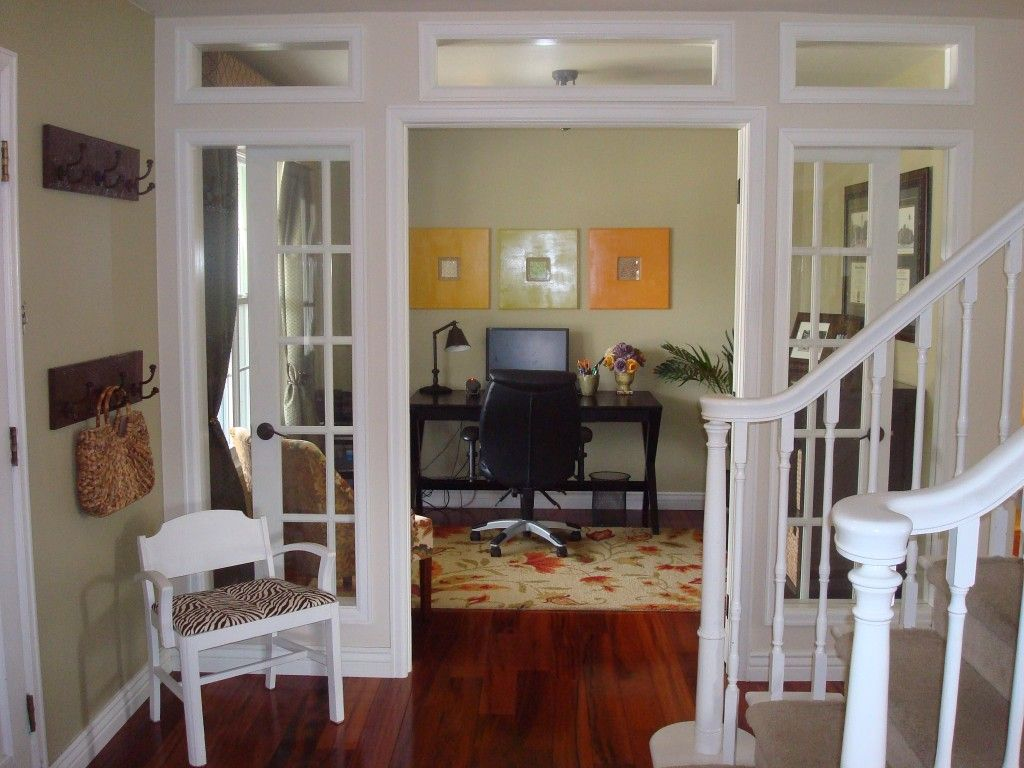 Great Idea, Turned Unused Dining Room Into Beautiful Home Office! LOVE  Those French Doors