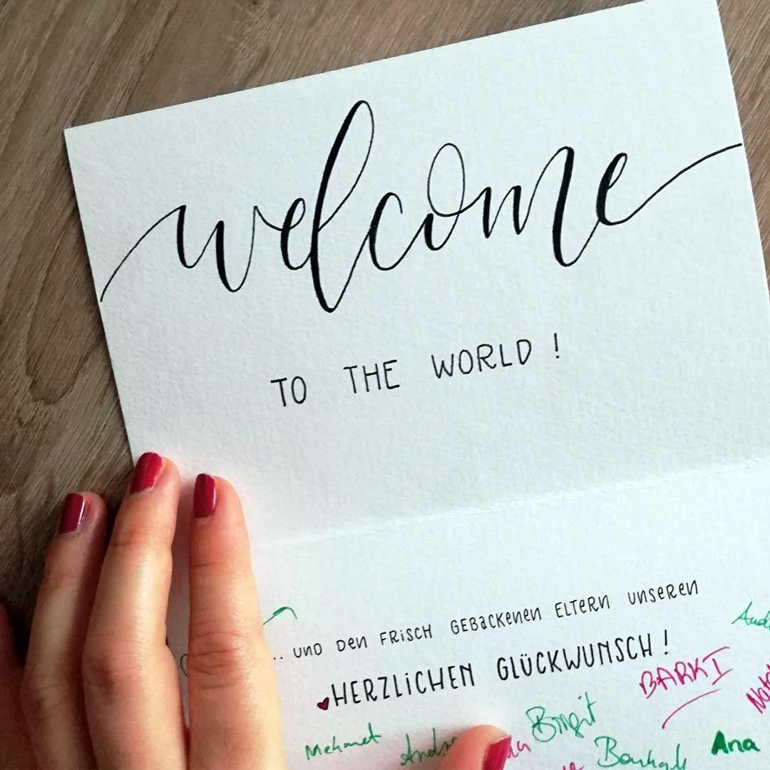 Was kann man auf eine geburtskarte schreiben