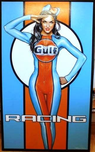 Martini Racing Team  Pin Up Girl  Picture Poster