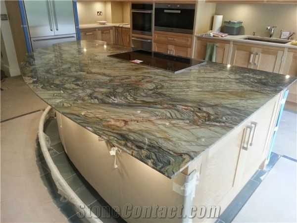 Image Result For White Fusion Granite Kitchen Island Tops Quartzite Kitchen Island Granite Countertops Kitchen