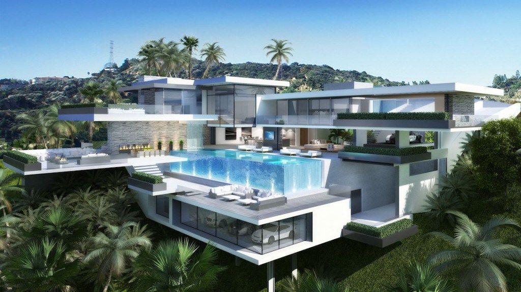 Dos lujosas ultra modernas mansiones en sunset plaza for Casas modernas los angeles
