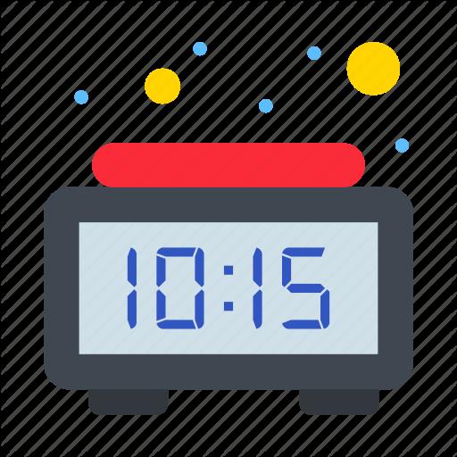 Alarm Clock Digital Time Icon Download On Iconfinder Time Icon Clock Alarm