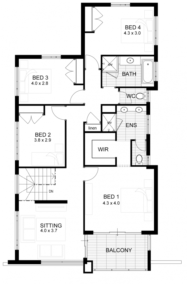 Cavalli two storey home designs and plans narrow lot for Narrow lot home builders perth