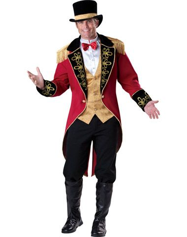 4d692739b65 ... and matching top hat. Ringmaster Adult Men s Costume - Circus Carnival  Cosplay   Halloween Costume