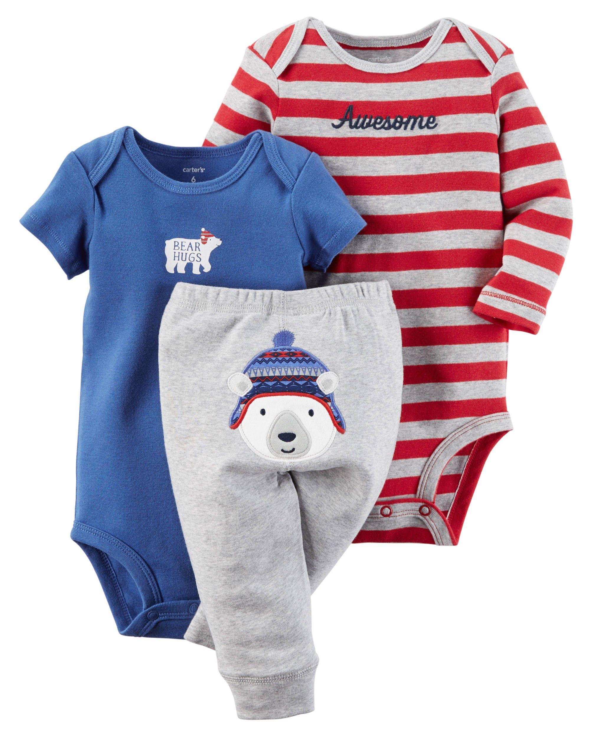 6b9b24c9a 3-Piece Bodysuit & Pant Set (culito) | Aidan | Baby boy outfits ...