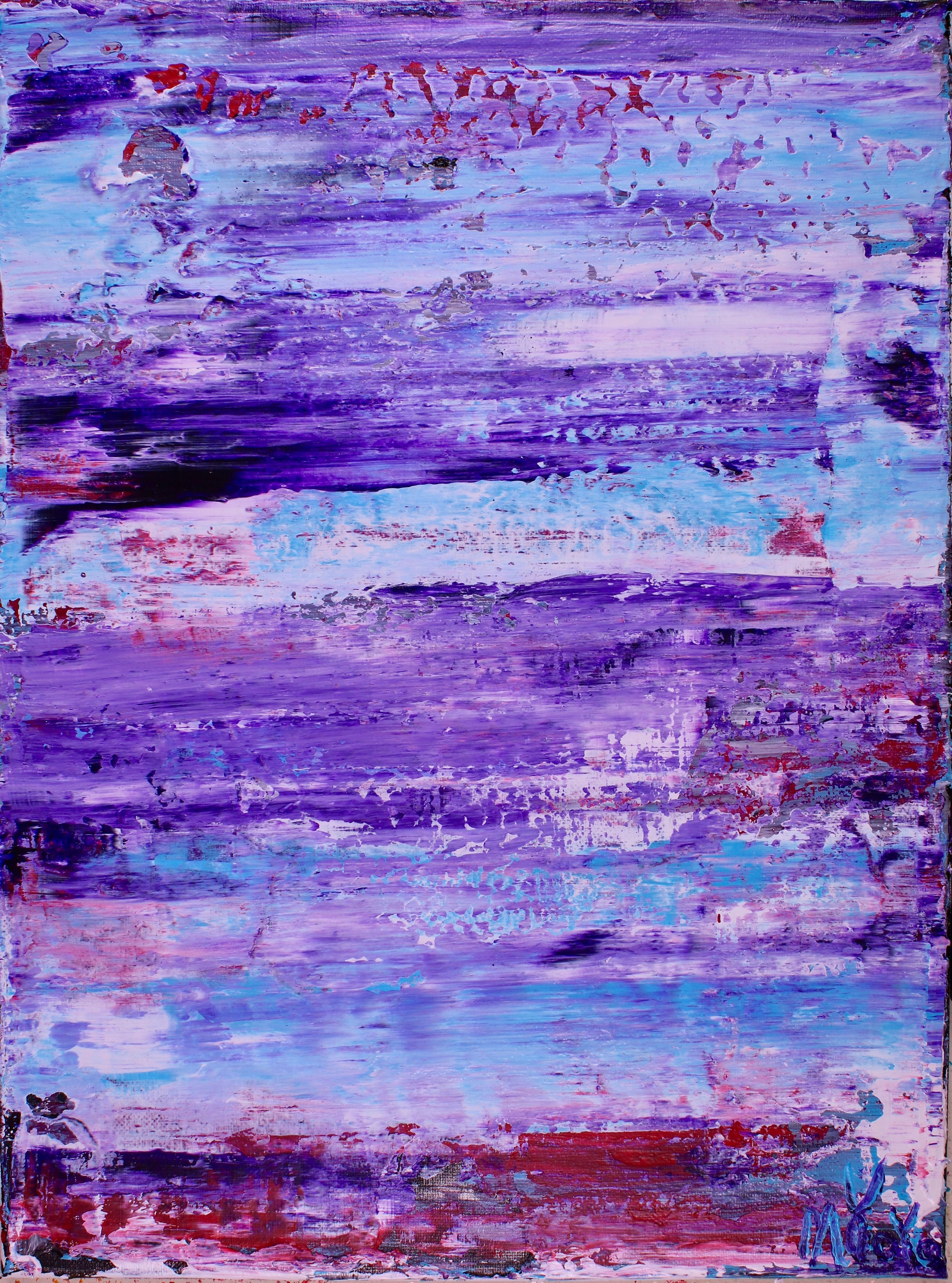Purple Eclipse 2 Abstract Abstract Art Landscape Purple Abstract