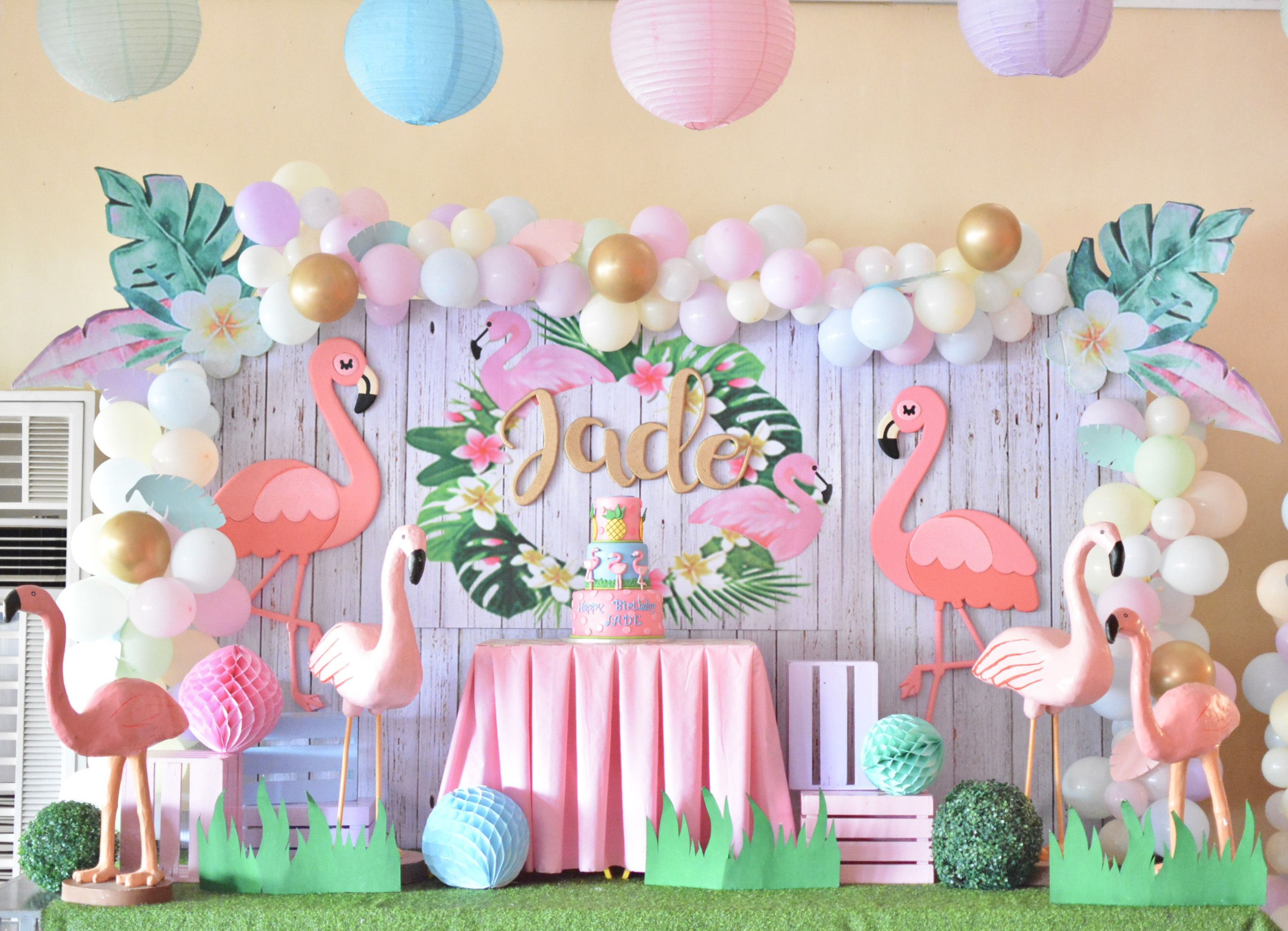 Pastel Flamingo Themed Stage Design Flamingo Themed Party Flamingo Birthday Theme Flamingo Birthday