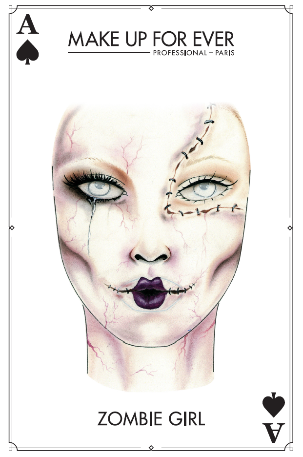 Make Up For Ever Halloween Inspiration Face Charts and
